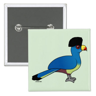 Great Blue Turaco Pinback Buttons