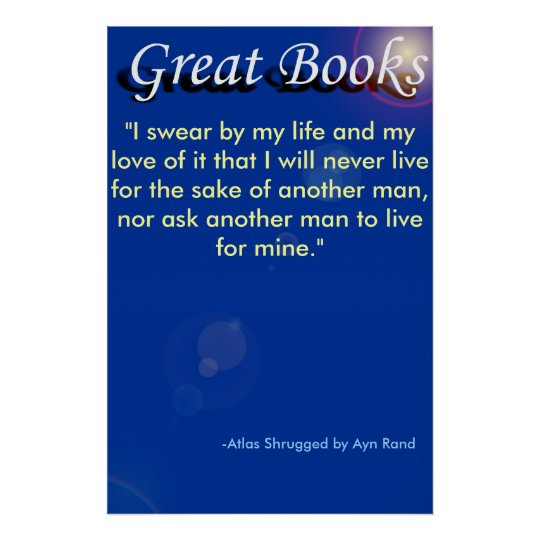 "great books, ""I swear by my life and my l... Poster"