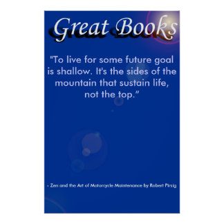 """great books, """"To live for some future goa... Print"""