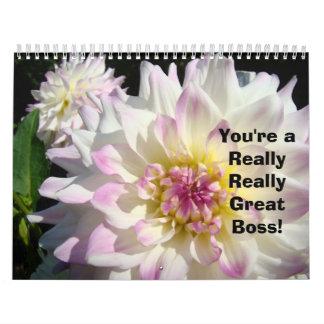 Great Boss! Calendar Botanical Floral Photography