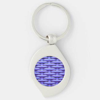 great braided basket,blue Silver-Colored swirl metal keychain