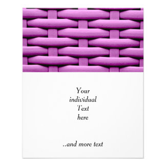 great braided basket, pink personalized flyer