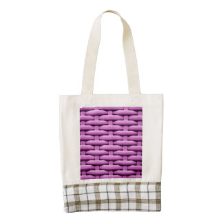 great braided basket, pink zazzle HEART tote bag