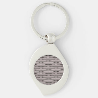 great braided basket,silver Silver-Colored swirl metal keychain