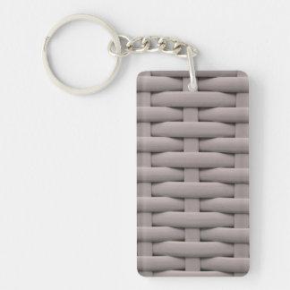 great braided basket,silver Single-Sided rectangular acrylic keychain
