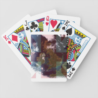 Great Bretain from Space and Flag. Bicycle Playing Cards