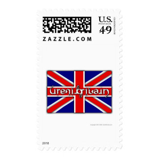 'Great Britain' ambigram on a British flag Postage Stamps