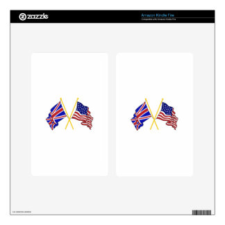 GREAT BRITAIN AND AMERICAN FLAGS SKIN FOR KINDLE FIRE