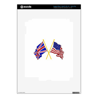 GREAT BRITAIN AND AMERICAN FLAGS SKINS FOR iPad 3