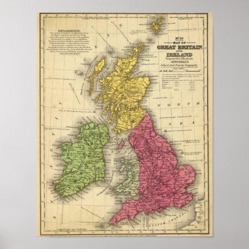 Great Britain and Ireland 2 Print