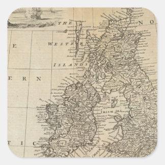 Great Britain and Ireland 2 Square Sticker