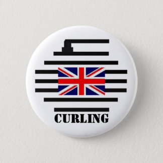 Great Britain Curling Button