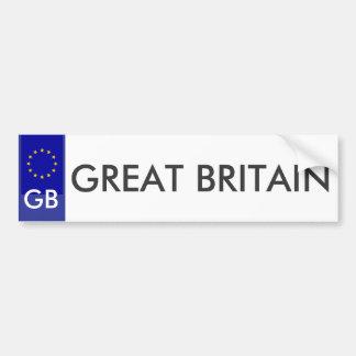 Great Britain EU License Plate Sticker Car Bumper Sticker