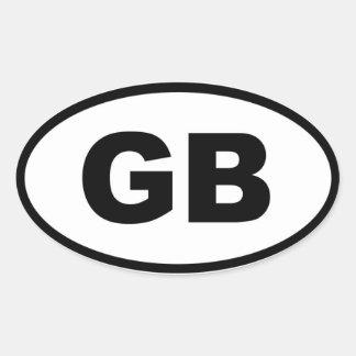 Great Britain - European Oval Sticker