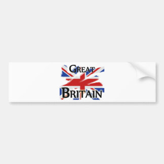 Great Britain - faded flag Bumper Sticker