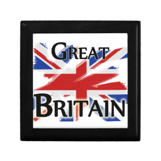 Great Britain - faded flag Trinket Box