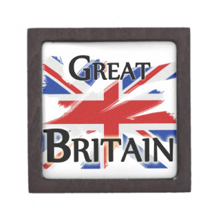 Great Britain - faded flag Premium Jewelry Boxes