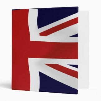Great Britain Flag 3 Ring Binder