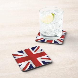 Great Britain Flag Beverage Coasters