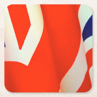 Great Britain flag detail Square Paper Coaster