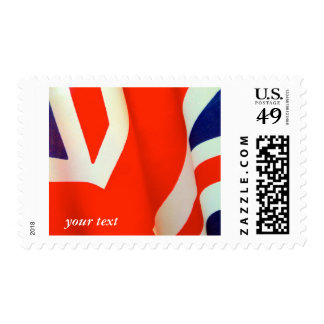 Great Britain flag detail stamp