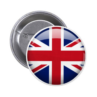 Great Britain Flag in Glass Button