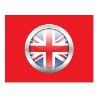Great Britain Flag in Orb Postcard