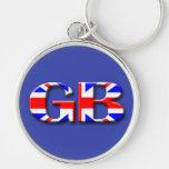 Great Britain Flag Key Chain