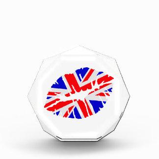 Great britain flag kiss acrylic award