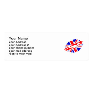 Great britain flag kiss business card templates