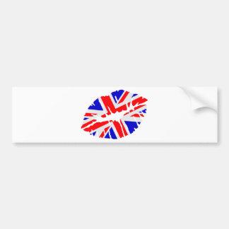 Great britain flag kiss car bumper sticker