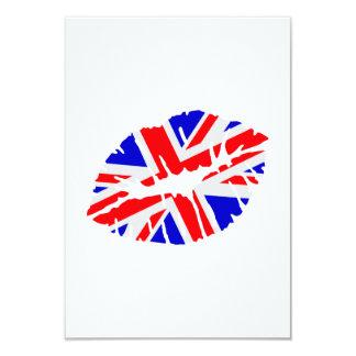 Great britain flag kiss card
