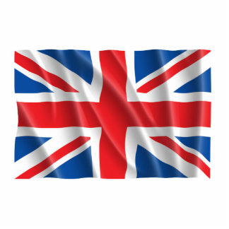 GREAT BRITAIN FLAG STANDING PHOTO SCULPTURE