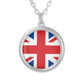 Great Britain Flag Round Pendant Necklace