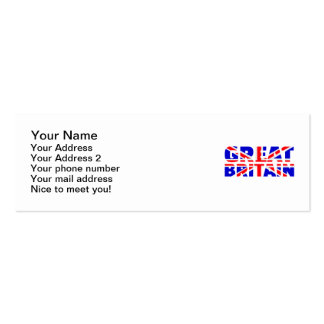 Great britain flag union jack business card template