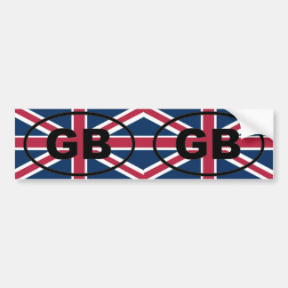 Great Britain - GB - European oval Bumper Sticker