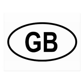 "Great Britain ""GB"" Postcard"