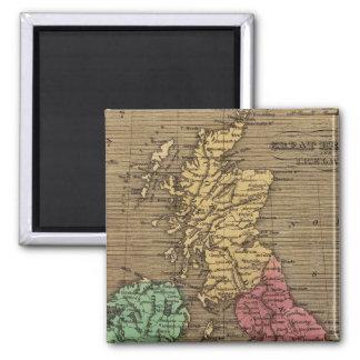 Great Britain, Ireland 2 2 Inch Square Magnet