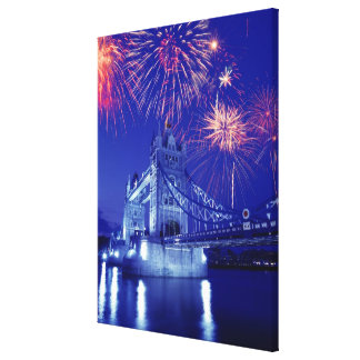 Great Britain, London. Fireworks over the Tower Canvas Print