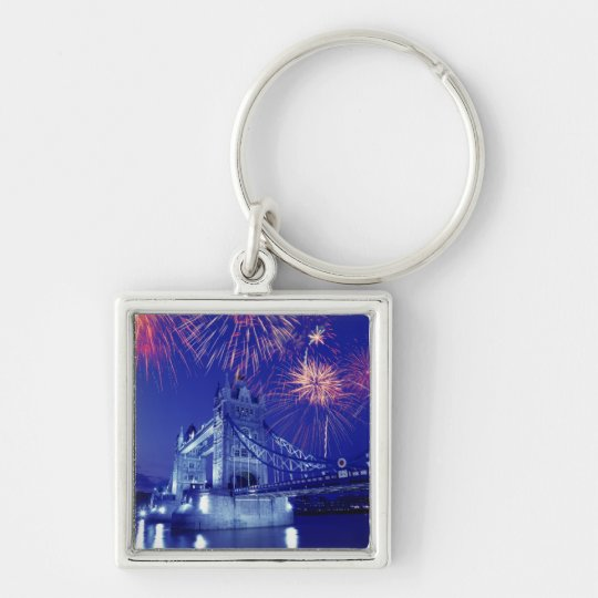 Great Britain, London. Fireworks over the Tower Keychain