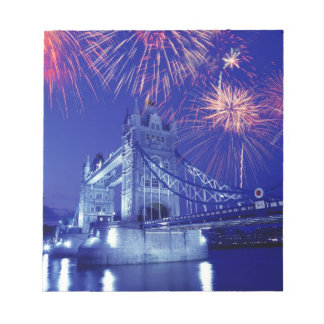 Great Britain, London. Fireworks over the Tower Memo Notepad