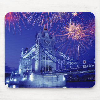Great Britain, London. Fireworks over the Tower Mouse Pad