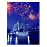 Great Britain, London. Fireworks over the Tower Postcards