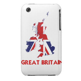 GREAT BRITAIN MAP Case-Mate iPhone 3 CASES