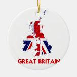 GREAT BRITAIN MAP CERAMIC ORNAMENT