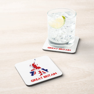 GREAT BRITAIN MAP DRINK COASTERS