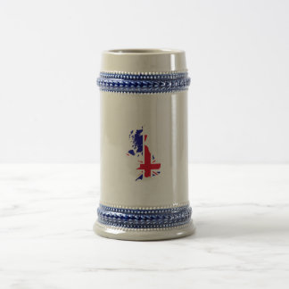 Great Britain Map Flag Beer Stein
