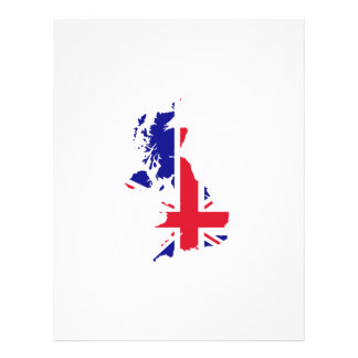 Great Britain Map Flag Flyers