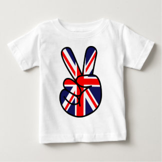 Great Britain Peace Symbol Baby T-Shirt