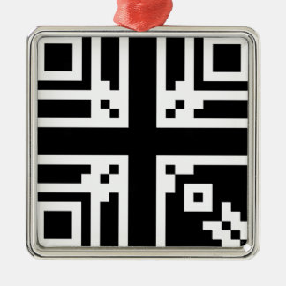 Great Britain QR Code Metal Ornament